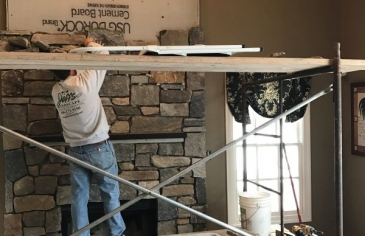 fireplace build